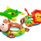 Круг надувной детский зверятка 3 вида
