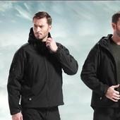 Тактическая куртка 6573,Чёрный и олива.Размеры:M L хL (2з