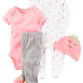 Комплекты 4в1 для новорожденных Картерс 9 видов в наличии Carter´s