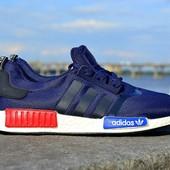 Кроссовки мужские Adidas NMD синие адидас нмд
