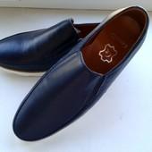 Кожаные туфли-мокасины. Размер 41 42 и 43. В наличии