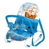 Шезлонг - качалка для детей Bertoni Top Relax, Blue Ship