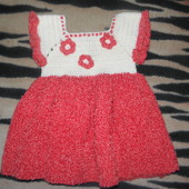 вязаное платьюшко на малышку