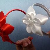 Обруч с цветком для выпускного,на школьную линейку