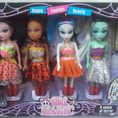 набор кукол монстер хай 4шт всего 108гр