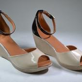 стильные женские кожаные босоножки Модель:706-2, серый замш