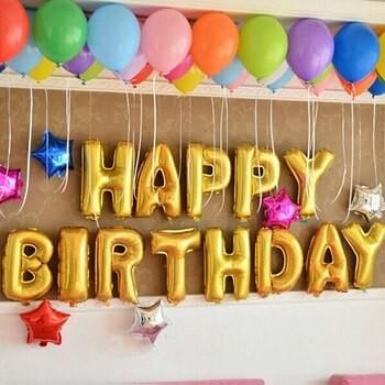 Фольгированые шары с днем рождения фото №1