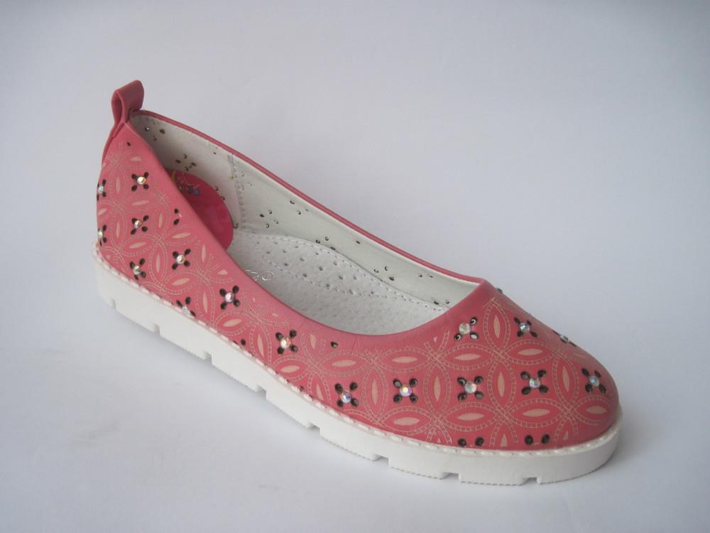 Скидка! детские летние туфли для девочки, стелька кожаная с супинатором, р. 31 - 20 см, код 348 фото №1