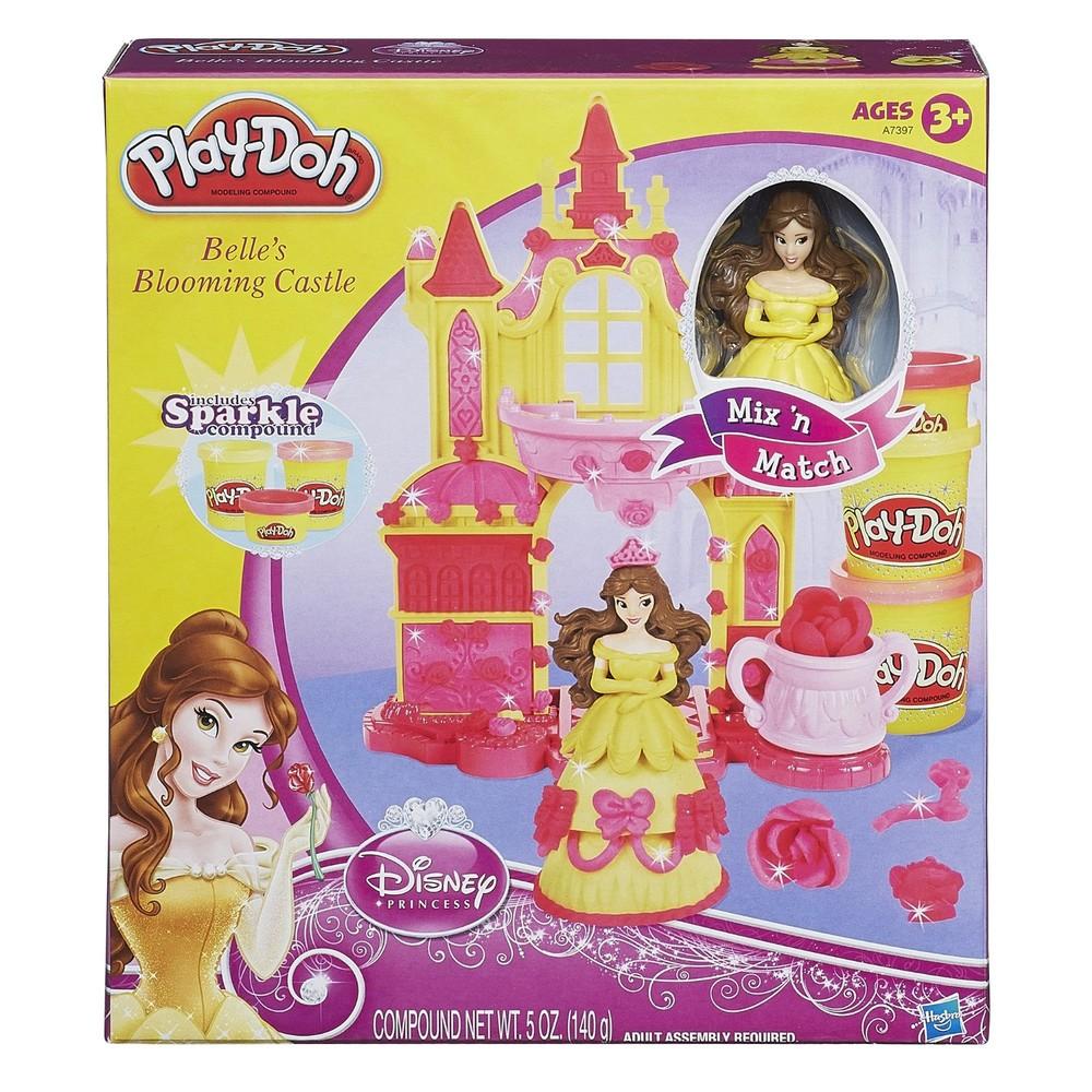 Пластилин замок принцессы дисней бель play-doh фото №1