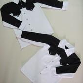 Рубашки школьные мальчикам. 115-140 см по цене поставщика