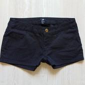 Стильные черные шортики в горох для девочки. H&M. Размер 32 (2) на рост 150 см, 12-14 лет.