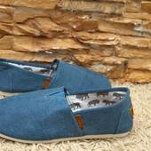 Мужские эспадрильи , голубой джинс, в наличии