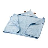 Полотенце с капюшоном, голубой Ikea