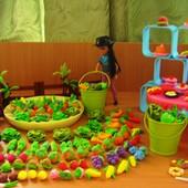 Мини овощи, фрукты и еда для игры в огород или для Барби. Набор из 20 шт.
