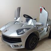 Электромобиль детский Ламборджини 518 серый крашеный