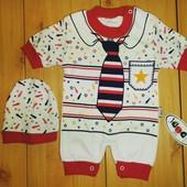 Детский комплект песочник+шапочка Шериф Beebaby (Бибеби)