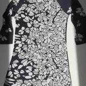 Итальянское платье туника в цветочный принт.