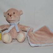 фирменная игрушка мишка комфортер полотенечко салфетка слюновпитывающее мягкое