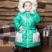 Зимнее пальто на овчинке