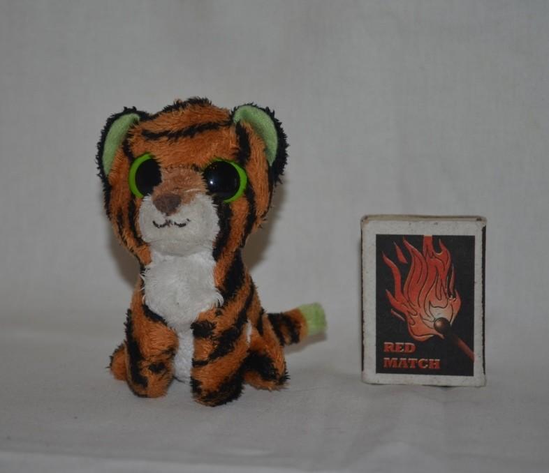 Глазастик симпатяга мягкая щенок собачка гепард обезьянка тигр разные брелок ty фото №1