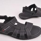 Кожаные мужские сандалии С-7 черные
