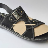 Мужские чёрные сандали