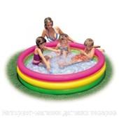 Детский надувной бассейн Intex Зоопарк и радуга 114х25см