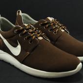 Мужские кроссовки,натуральная замша,Nike Roshe Run (копия)