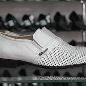 Новинка!!! Летние туфли Мужские натуральная кожа Код: Л-01,02,03