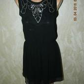 Шифоновое легкое платье с вышивкой