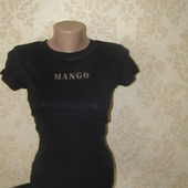 Mango футболка черного цвета