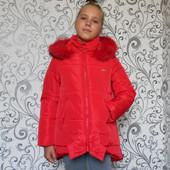 Зимняя Куртка Бант Разные цвета, размеры 122-152