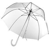 Отличный подростковый, прозрачный зонтик СП Полуавтомат