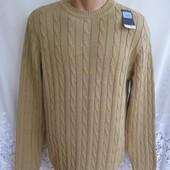 Практичный новый свитер F & f Blue collection хлопок М 48-50 А114N