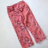 джинсы в розы р.90