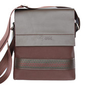Удобная мужская стильная сумка коричневая (E-4010)