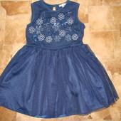 нарядное платье John Rocha 3-4 года состояние отличное