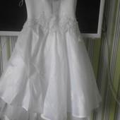 Платье бальное выпускное на 7-9 лет