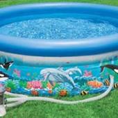 Бассейн надувн. с дельфинами 305*76см Intex Интекс 54902