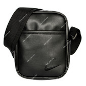 Спортивная мужская сумка черная под Nike (N-07)