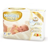 Подгузники Huggies Elite Soft 2 Small (4-7 кг), 27 шт.