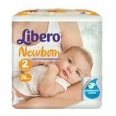 Подгузники детские Libero Newborn 2 Mini (3-6 кг) 26 шт.
