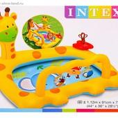 Надувной детский бассейн Жираф Intex 57105 112х91х72 см.