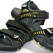 Мужские летние сандалии Badoxx Польша размеры 41-46 № 9060 grey/yellow