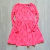 Яркое трикотажное платье для девочки. Minoti. Размер 1.5-2 года. Состояние: новой вещи