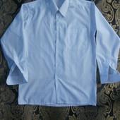 Праздничная белоснежная рубашка 50 р.
