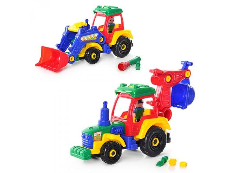 Конструктор 1233 трактор-экскаватор фото №1