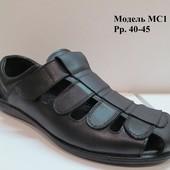 Мужские сандалии, натуральная кожа, рр. 40-45