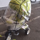 Универсальный дождевик на коляску трость и трехколесный велосипед