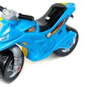 Каталка - толокар - мотоцикл Орион сине - желтый  2-5 лет.